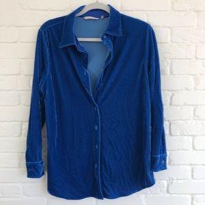 Soft surroundings button down long blouse Medium
